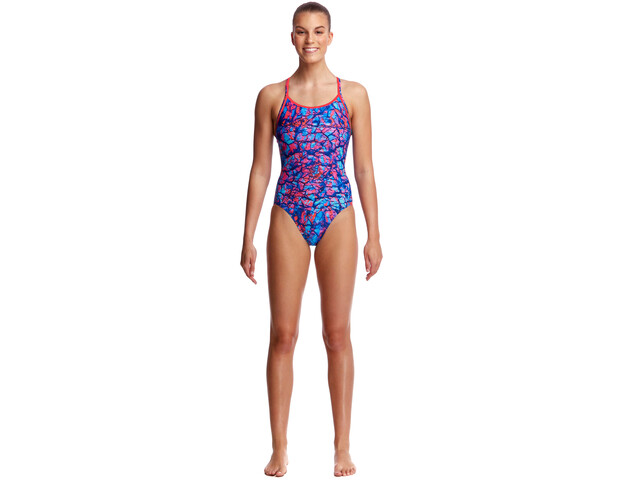ee7809d8d28 Funkita Diamond Back One Piece Swimsuit Women red blue at Bikester.co.uk